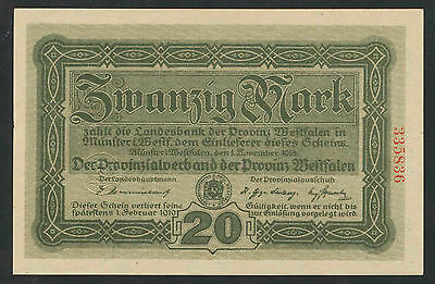 WESTFALEN Münster 20 Mark 1918  (1)