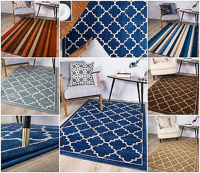 Trellis Rugs Teal Duck Egg Blue Modern Rugs For Living Room Soft Non Shed Carpet