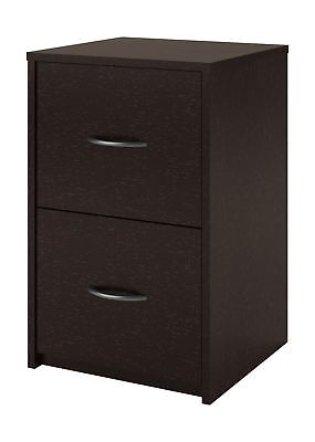 Altra Core 2 Drawer File Cabinet, Black Forest