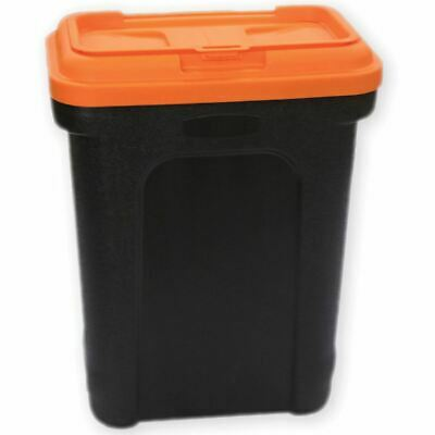 Pet Food Storage Container Animal Dry Cat Dog Bird Food Box Black Orange Large