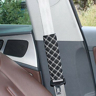 2X Safety Belt Pads For Car Seat Cover Shoulder Protector Cushion Harness Pad #