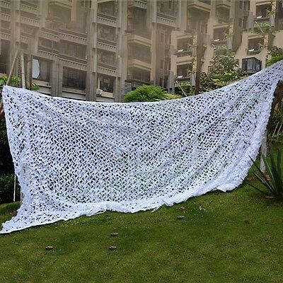 New Camouflage Net Snow White Camping Hunting Camo Cover Sunshades Decoration