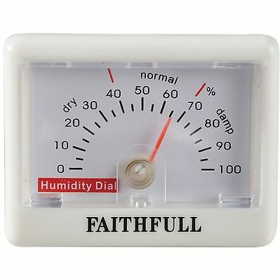 NEW Faithfull Humidity Meter Small & Accurate Hygrometer Measures 0 - 100%