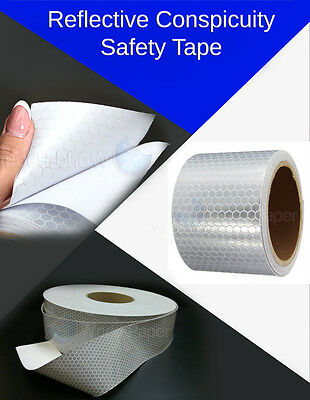 """Silver White Car Reflective Safety Warning Conspicuity Roll Tape Film Sticker 2"""""""