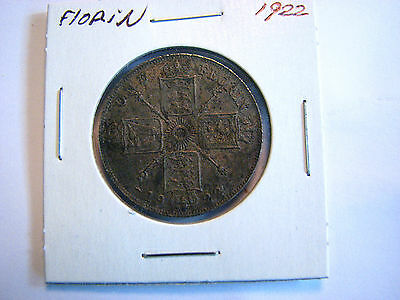 Great Britain 1922 One Florin a nice grade