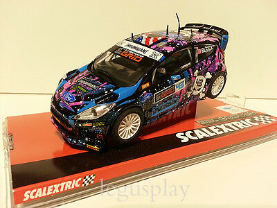 "Slot SCX Scalextric A10209S300 Ford Fiesta RS WRC ""ST-RX43"" Hoonigan - New"