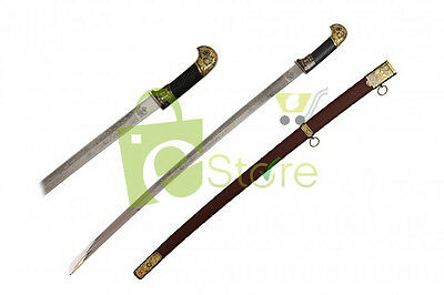 """37-3/8"""" Imperial Russian Cossack Shashka Officer Sword Red Scabbard BRAND NEW"""