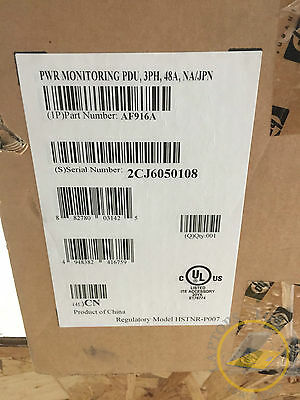 HP Power Monitoring AF916A PDU 48 AMP Power Distribution Unit