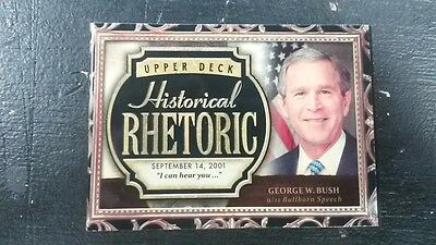 2016 Upper Deck Goodwin Champions George W. Bush 9/11 Bullhorn Historic Rhetoric