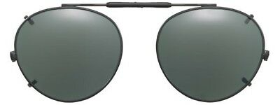 00054b83d80 Visionaries Polarized Clip on Sunglasses - Round - Black Frame - 50 x 45 Eye
