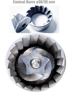 Conical Burrs ø 38 mm - ø 38/30mm for Ascaso, Iberital, Isomac, Rossi etc.