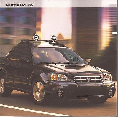2004 Subaru Baja Turbo original sales brochure MINT