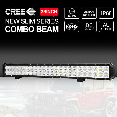"""23 inch 33600LM CREE LED Light Bar Spot Flood Combo Driving 4wd Off Road 22"""""""