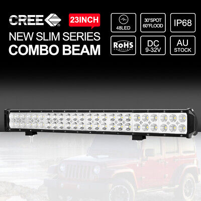 23 inch CREE LED Light Bar 336W Spot Flood Combo 4wd Work Driving Off Road 22""
