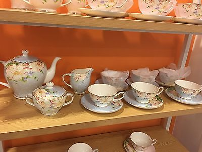 English Tea Sets (blue) / 15 Pieces Great Discount