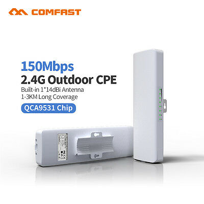 150Mbps Wireless Access Point Outdoor CPE WiFi Bridge AP Network Router w/POE