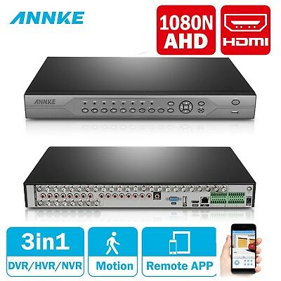 ANNKE 32CH 720P Security DVR Video Recorder Real Time Home Surveillance System