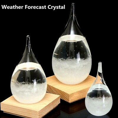 Tempo Storm Glass Drop Weather Forecast Water Drops Shape Crystal Weather Foreca
