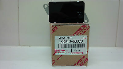 Toyota Landcruiser Clock 45 75 78 79 Series Genuine, new 83910-60070 (old dash)