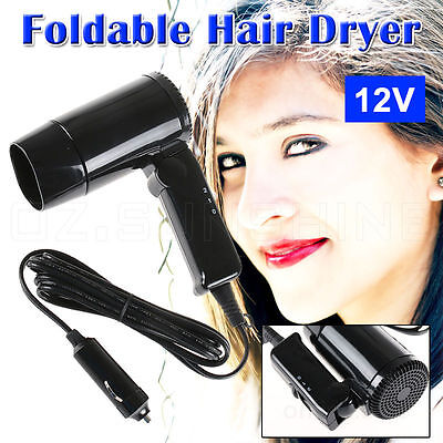 New Portable 12V  Hair dryer Defroster Caravan Boat Camping Accessories Parts OZ