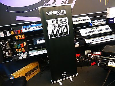 Arturia Minibrute Colapsible Promo Stand - Synthesizer Keyboard Banner