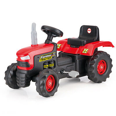 DOLU Pedal Operated Kids Ride On Tractor Toy