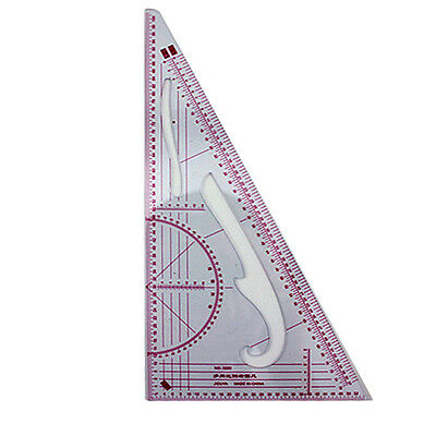 Clear Sew French Curve Metric Triangle Ruler Measure F Sewing Dressmaking Taylor