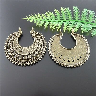 Lots 20pc Antique Bronze Alloy Half Moon Charms Pendant Jewelry DIY Making 51512