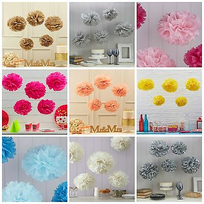 Tissue Paper Pom Poms, Wedding / Party / Christmas Venue Decorations - pack of 5