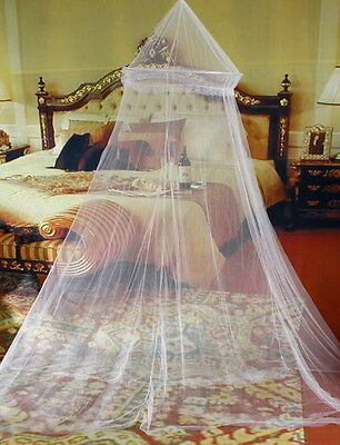 Mosquito Net Netting Mesh Bed Canopy Fly Insect Protection Round Dome Lace NetUK
