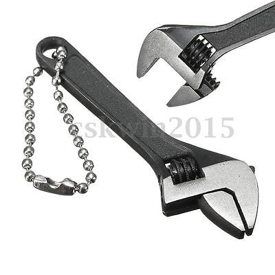 2.6'' Mini Metal Adjustable Wrench Hand Tool 0-10mm Jaw Spanner Capacity Black