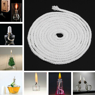 "1/4 "" Inch Dia Round Cotton Kerosene Oil Alcohol Lamp Wick 300cm Length 10FT"