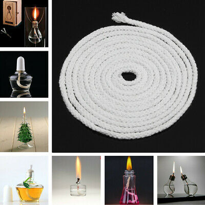 "1/4 "" Inch Diameter Round Cotton Kerosene Oil Alcohol Lamp Wick 3m Length 10FT"