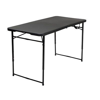 COSCO 4' Height Adjustable Folding Tailgate Table in Black