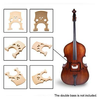 Fit for 1/8 Regulated Double Bass Contrabass Bridge Maple New T5X2