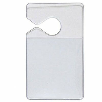 25 Pack - Clear Vertical Vehicle Parking Pass Permit Holders by Specialist ID