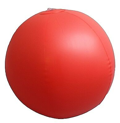 "Inflatable Red 10"" Beach Ball Swimming Pool Parties Holiday Garden Kids Sea"