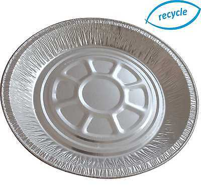 """Aluminium Foil Container - Round Plates CH64i - 223mm x 24mm, 9"""" - Pie dishes D"""