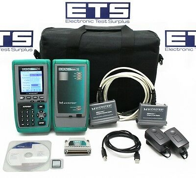 Fluke MicroTest OmniScanner 2 Cable Certifier CAT5 CAT5E CAT6 Digital Analyzer