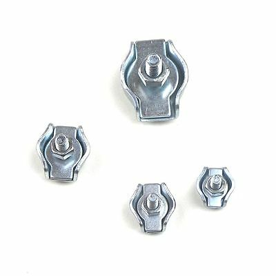 10pc Set - Zinc Plated Simplex Single Pole Wire Rope Cable Clip Clamp
