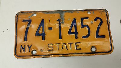 EXPIRED NEW YORK STATE License Plate 74-1452