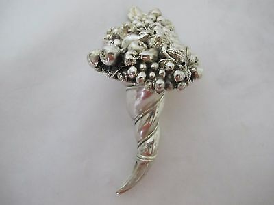 Fantastic Vintage Italian Sterling Silver Paperweight With Fruits