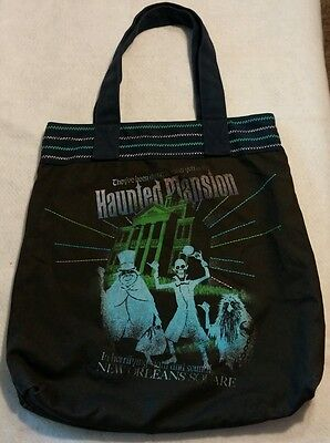 DISNEY TOTE NEW ORLEANS SQUARE Haunted Mansion ride bag canvas