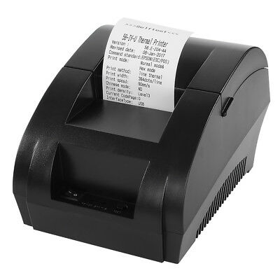 USB 58mm POS/ESC Thermal Dot Receipt Printer + Electronic Cash Drawer Roll Paper