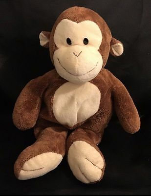 Ty Pluffies Dangles Monkey Plush 10 Stuffed Animal Plastic Eyes