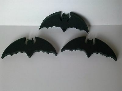 3 halloween foam black bats