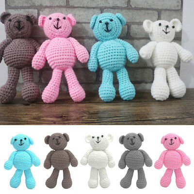 Baby Newborn Girls Boys Crochet Knit Bear Photography Prop Photo Toy Cute Gift