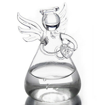 Praying Angel Crystal Glass Vase Flower Containers Home Decorations DM
