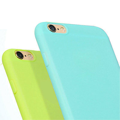 For iPhone 5s SE Thin Candy Color Matte Silicone Rubber TPU Phone Bag Case Cover