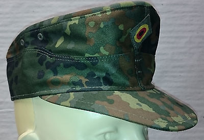Field Cap  mountain style  German Army  green flecktarn camo - Made in Germany -